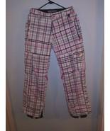 Section Division Ski Snowboard Pants Nylon Zip Pants Weatherproof Plaid ... - $34.64