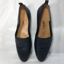 Calvin Klein 7.5 Women's Flats Navy Monogram CK Made in Spain Classifica... - $33.95
