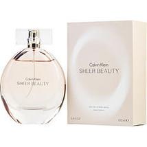 Calvin Klein Sheer Beauty By Calvin Klein Edt Spray 3.4 Oz - $95.00