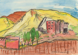 Danyk D'Arsonval - Three 20th Century Pen and Ink Drawings, Vibrant Land... - $65.94