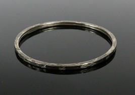 """Vintage .925 Sterling Silver Etched 2 3/8"""" Starburst Design Bangle Brace... - $20.35"""