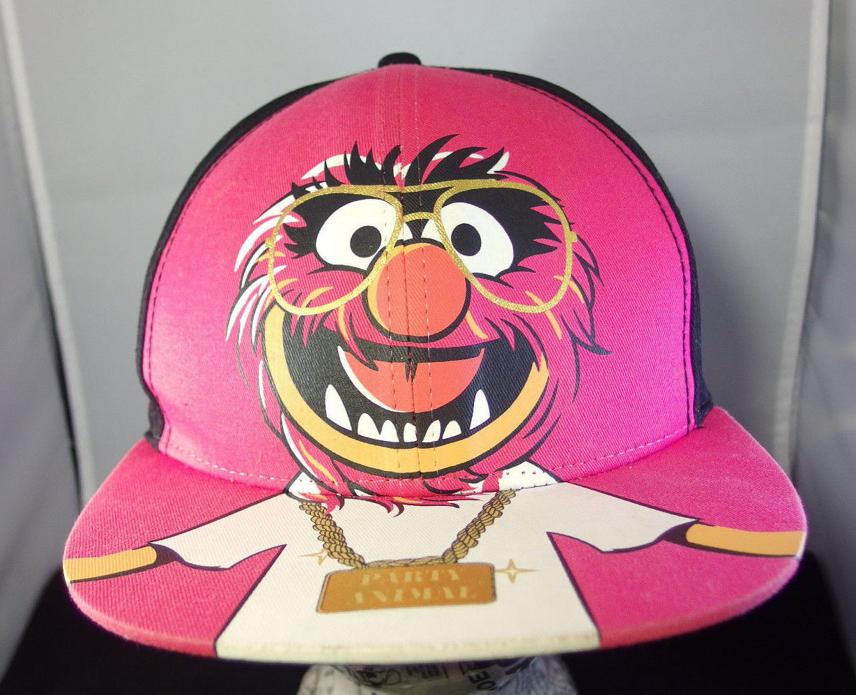 Primary image for Muppets Party Animal Hat Puppet Cap NerdCore Glasses Hipster Drummer DJ