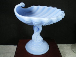 Imperial Satin Powder Blue Dolphin Footed Compote~~~A Must See~~ - $39.95