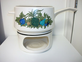 LENOX TEMPERWARE LARGE POT WITH WARMING RING STAND FALL BOUNTY EXCELLENT... - $22.99