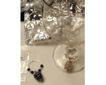 Gemstone Wine Charms Handcrafted Custom Made Set of 4 Free Shipping & Gift Bags