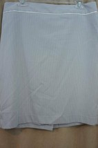 Anne Klein Skirt Sz 10 Misty Blue White Combo Striped Suit Separate Care... - $39.53