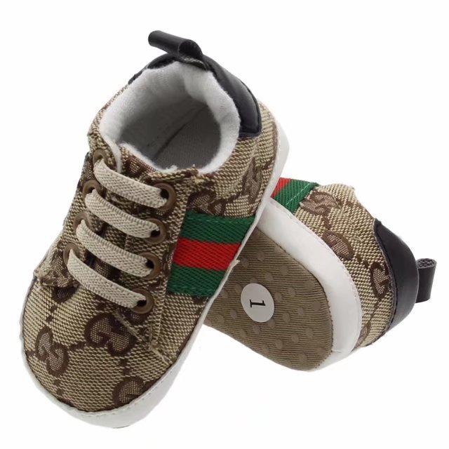Brown Unisex Baby Soft Bottom Indoor Shoes 0-18 Months Walking Shoes G393 image 2