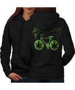 Amsterdam Weed Bike Rasta Sweatshirt Hoody Holland Flat Women Hoodie Back - $21.99+