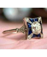 Art Deco 2.60Ct White Round Diamond Vintage Engagement Ring in 14k White... - $266.00