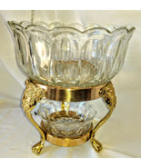 Vintage Elegant 1970s Sovereign House Crystal Epergne Glass Bowls w 2 Ti... - $379.99