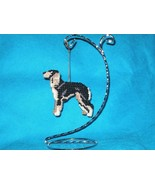 Saluki ornament home decor handcrafted dog art ... - $22.00