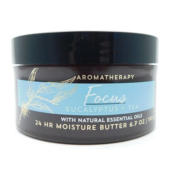 Bath & Body Works Aromatherapy Focus Eucalyptus + Tea 24 HR Moisture Butter 6.7