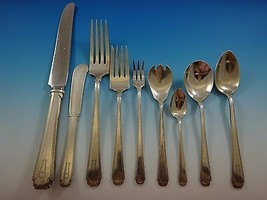 Rhythm by Wallace Sterling Silver Flatware Service Dinner Set 109 Pieces H Mono - $7,195.00