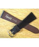 """Speidel USA Made 1960's  7/8"""" 22mm Dark Brown Karung Snake Vintage Watch... - $38.00"""