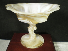 Heisey Slag Dolphin Footed Compote~~~Really Nice~~(H) Mark - $59.95