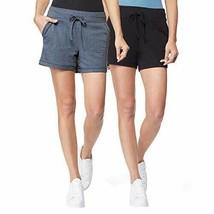 32 DEGREES Ladies' 2-Pack Short (Black/HT.Indigo, Medium) - $21.03