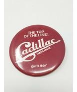 Vtg 1987 Cadillac Margarita Cuevo advertising tin pinback - $8.91