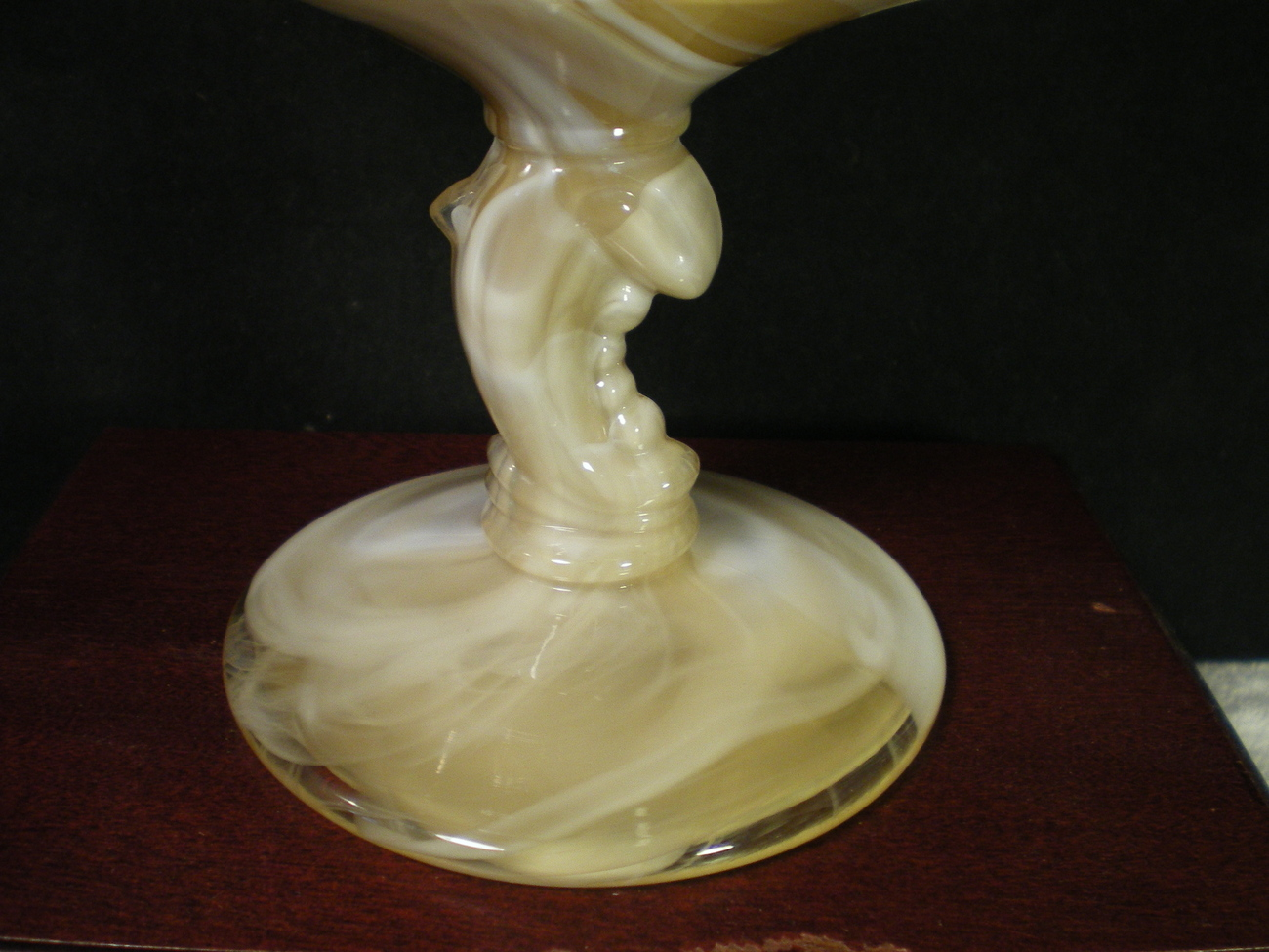 HEISEY SLAG DOLPHIN FOOTED COMPOTE~~~REALLY NICE~~(H) mark