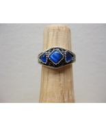Sterling Silver Sapphire Blue Catseye Cats Eye ... - $19.99