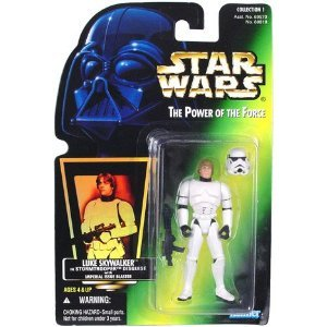 Star Wars POTF Luke Skywalker in Stormtrooper Disguise (green hologram)