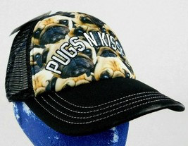 Pugs N Kisses Dog Trucker Baseball Cap Hat Black Box Shipped - $9.99