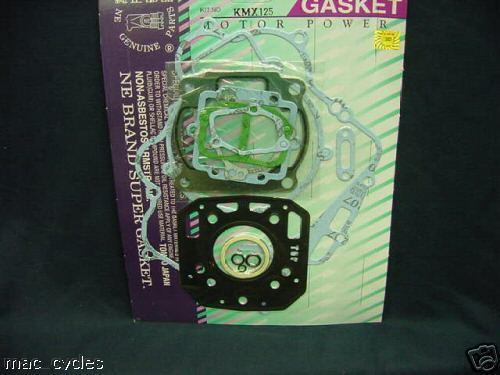 Kawasaki KMX125 1986-1990 Complete Gasket Set  NEW  *4037*