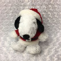 Snoopy Peanuts Hallmark Medium Christmas Holiday Stuffed Plush as Santa Bell Hat image 4