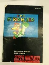 Super Mario World MANUAL Super Nintendo Booklet Instructions -Fast Ship! - $4.46