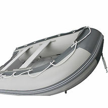 BRIS 10.8 ft Inflatable Boat  Raft Fishing Dinghy Tender Pontoon Boat Gray  image 7