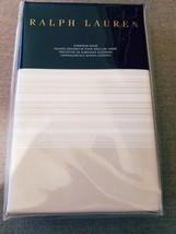 Ralph Lauren Haluna Bay Jamesport Tan Cream Stripe Euro Sham New - $58.91