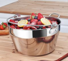 Kichenart Stainless Steel Induction Jam Pot Bucket Multipot Basket 9L (Lid) image 6