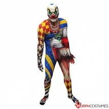 Combinaison Moulante Clown Effrayant Monster Adulte Halloween Costume de... - $62.98