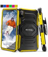 For iPhone X / 10 Hard Shockproof Hybrid Case Cover Belt Clip Holster Ki... - $12.50
