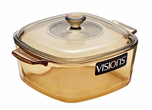 Visions Reverse 1.5L 1.58Quarts Square Multi Pot Glass Ceramics Kitchen Cookware