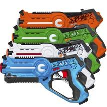 Set of 4 Kids Infrared Laser Tag Blaster Toys w/ 4 Settings, Lights, Sou... - $55.99