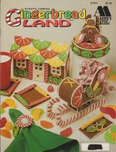 """Annie's Attic Leaflet """"Gingerbread Land"""" Plastic Canvas - Gently Used - $7.00"""