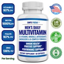 Men's Daily Multi Vitamin for Prostate Energy Focus Metabolism Immune A B C D E - $15.83