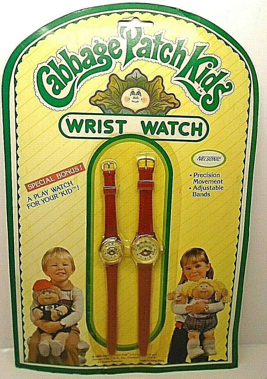 1983 Nelsonic Cabbage Patch Kids Wrist Watch Bonus A Play watch for your Kid! - $19.79