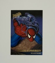 Spider-man Fleer Ultra 1995 93 Milestones Power and Responsibility Trading Card - $1.97