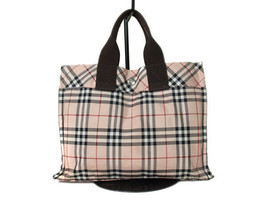 Authentic BURBERRY LONDON BLUE LABEL Nylon Canvas Pinks Tote Bag BT0180 - $139.00