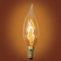 Urbanest Spiral Loop Incandescents Flame Tip Edison Bulb,E12 Candelabra 25 Watt - $4.94+