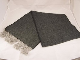 "Black houndstooth print softer than cashmere fringe scarf 64"" long - £12.14 GBP"