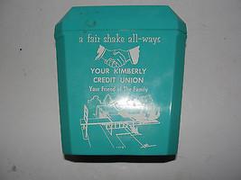 Salt & Pepper plastic shaker, advertising, Kimberly Credit Union, old - $22.80