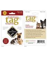 Microchip Awareness Pet ID Tag for Dogs and Cats (Large) - £11.78 GBP