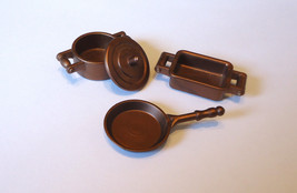 Playmobil 5322 Victorian Dollhouse Kitchen Copper Cookware Pan Pot Dish set - $4.99
