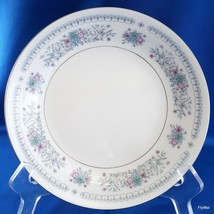 "Crown Ming Harmony Verge Coupe Soup Bowl 7.5"" Blue Pink Floral w Platinum - $10.89"
