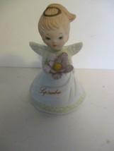 "Lefton China 3 1/2"" September  Birthday Angel New in Box Vintage - $10.88"