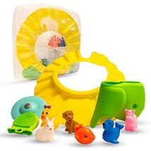 Baby Shower Gift Set for Bathtime - Fun and Vibrant 10 Pc Gifts; 6 Bath ... - $23.99