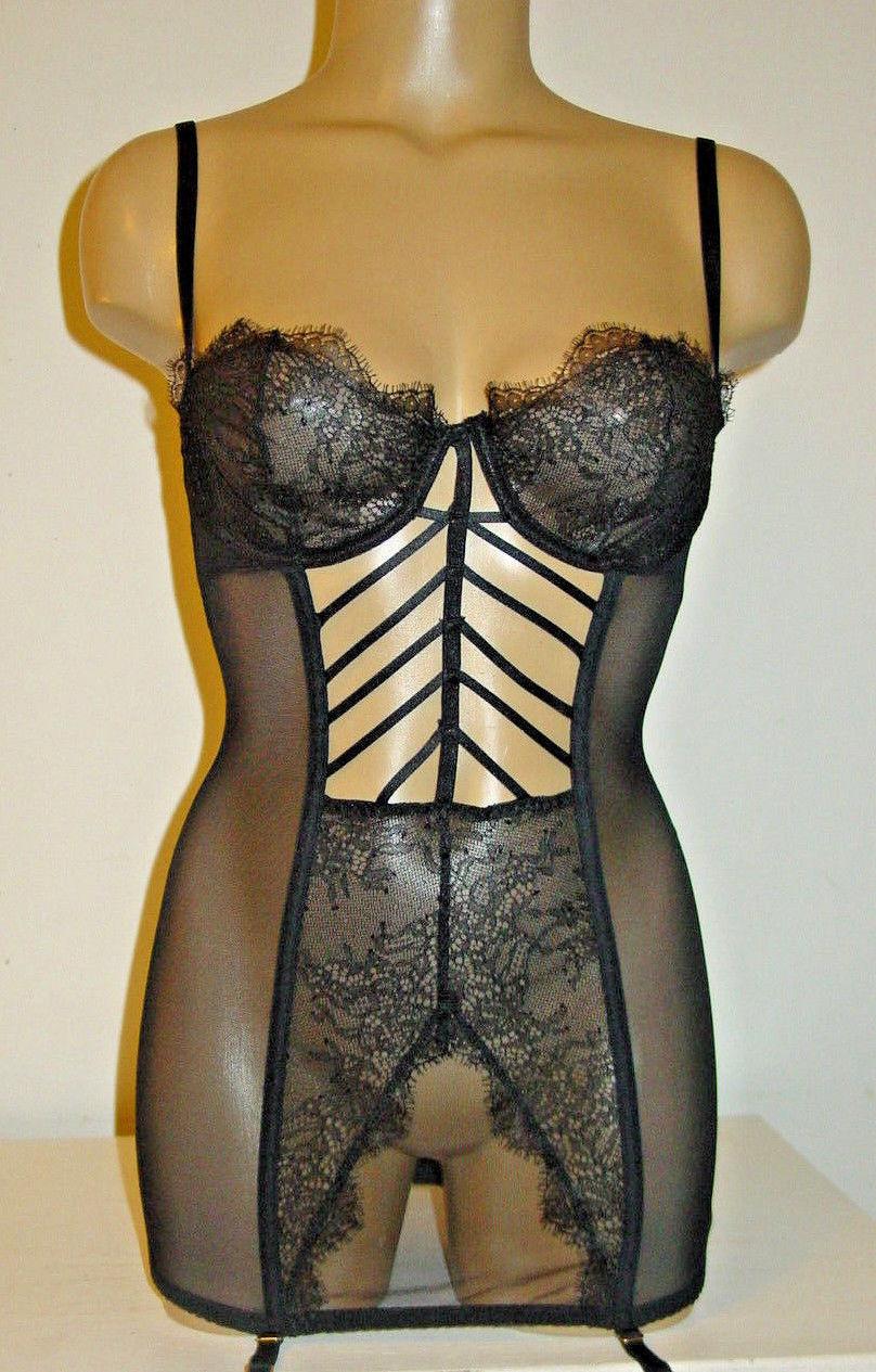90cc8228b Victorias Secret black mesh strappy front and 32 similar items