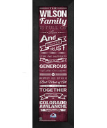 "Personalized Colorado Avalanche ""Family Cheer"" 24 x 8 Framed Print - $39.95"